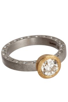 """16 Engagement Rings That Have Us Saying """"I Do!""""  #refinery29  http://www.refinery29.com/39872#slide9  Malcom Betts Old Cut Diamond Ring, $13,650, available at Barneys New York, 660 Madison Avenue (at 61st Street); 212-826-8900."""