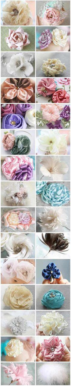 Flores de la tela.(tutoriales)