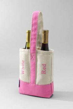 Double Canvas Wine Tote