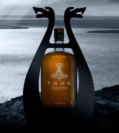 Sure, a drinking horn or oversized flagon of ale is the usual fair for your norse god of thunder types, but every now and then when Thor likes a smooth single-malt whiskey, what's he going to have?  The folks at Highland Park distillery appear eager to answer that timeliness question. Also, he has a blog.