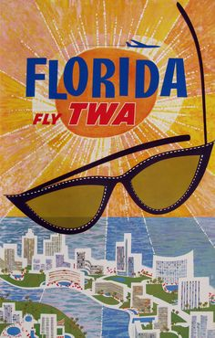 """The ads put out by Pan Am and TWA were always fun done in """"Florida Style"""""""