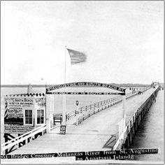 St. Augustine bridge 1896 crossing Matanas river, FLORIDA