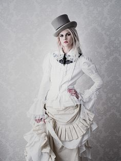 (white chick) Steampunk Chic by Jose G Cano, via Behance