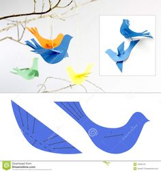 Pássaros De Papel Fotos de Stock - Imagem: 19226143