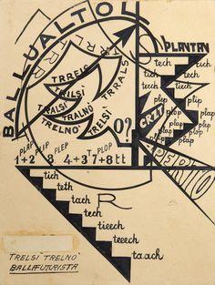 Giacomo Balla, Trelsì trelno, 1914 - Collezione Marinetti - ©Matteo Zarbo