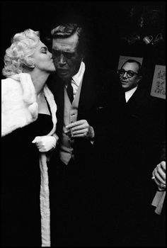 Marilyn Monroe + John Huston, 1956. Photo by Burt Glinn