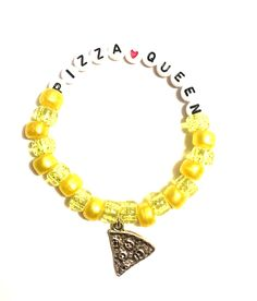 A personal favorite from my Etsy shop https://www.etsy.com/listing/493565040/rave-kandi-bracelet-pizza-queen-edc