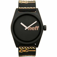 The Neff Daily Wild Chains watch in black is a no nonsense watch to keep your wrist fly.