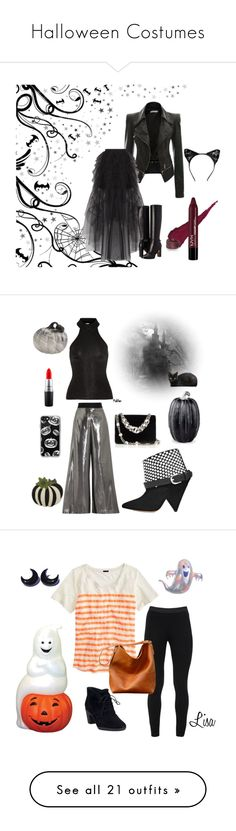 """""""Halloween Costumes"""" by micromunkey ❤ liked on Polyvore featuring BCBGMAXAZRIA, Sif Jakobs Jewellery, Burberry, Opening Ceremony, Yves Saint Laurent, Isabel Marant, Miu Miu, Lenox, Improvements and MAC Cosmetics"""