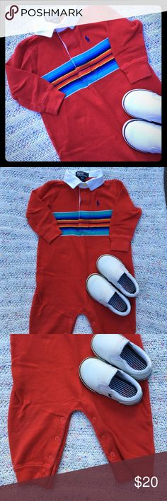 Like NEW Polo by Ralph Lauren One-Piece Sz 18M Please feel free to ask questions... Polo by Ralph Lauren One Pieces