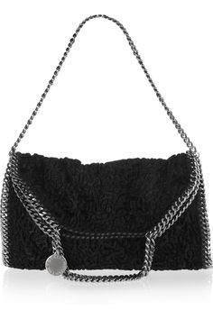 Stella McCartney Falabella convertible textured faux fur bag NET-A-PORTER.COM