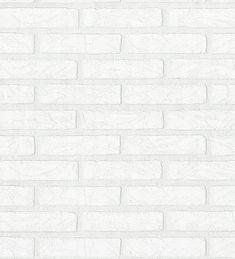 Papel pintado ladrillo blanco estilo industrial relieve vinilico - 40648