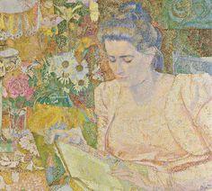 Jan Toorop - Portret van Marie Jeanette de Lange (1900)