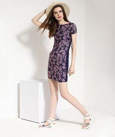 Yepme Floral Print T-Shirt Dress - Blue