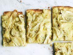 Potato-Fennel Pizza with Taleggio recipe from Food Network Kitchen via Food Network