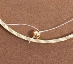 Brick Stitch Inside Metal Rings for Hoop Earrings