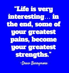 Inspirational Celebrity Quotes - Drew Barrymore #Weyley