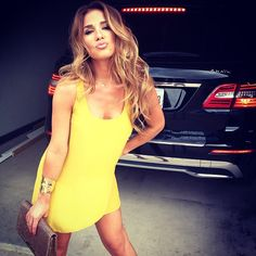Fashion Style Inspiration #Outfit #dress yellow summer