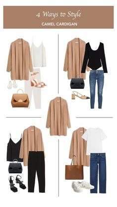 Capsule Outfits, Chic Outfits, Capsule Wardrobe, Fashion Outfits, Winter Stil, Cardigan Outfits, Business Casual Outfits, Casual Chic Style, Looks Vintage