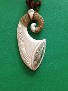Hand carved Bone, Wood andPearl shell pendants, carvings gifts and art from Tonga on Etsy, $120.00
