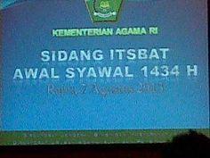 SIDANG ITSBAT 1434 H / 2013