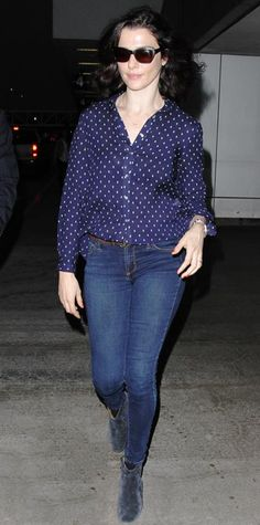 145 Celebrity-Inspired Outfits to Wear on a Plane - Rachel Weisz from #InStyle