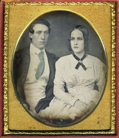 GORGEOUS TINTED YOUNG COUPLE DAG DAGUERREOTYPE