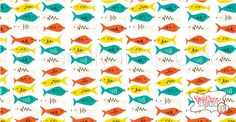 Fishy Fish. Surface Pattern Design. Available for licensing. Emily Ann Studio