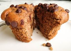 Paleo Banana Chocolate Chip Muffins - These are the best banana muffins I've ever had...and no flour!!!  MMMMMmmmm  CT