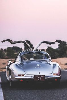 Mercedes Benz #300SL; In all its gull-winged glory (via: femme-cafe.tumblr.com) / #MadeToMeasure #Classic #Leather #Suitcase #TravelSet #Custom #Luggage; Please visit us at: http://theclassicvoyager.com/