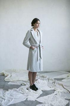Winter coat grey wool