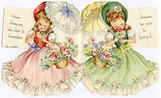Now that I have a working scanner, I plan to share some of my greeting card collection with you. Today I have some pretty pastel cards tha. Old Greeting Cards, Old Cards, Decoupage Vintage, Vintage Paper Dolls, Retro Images, Vintage Pictures, Vintage Images, Vintage Birthday Cards, Birthday Greeting Cards