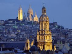 The Sacred Heart Basilica In The Distance Montmartre Paris France, Free Desktop Wallpapers, Cool Wallpapers