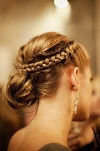 #Peinados #semirecogidos con #trenzas