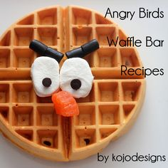 build your own angry bird waffle bar- fruit syrup recipes | kojodesigns