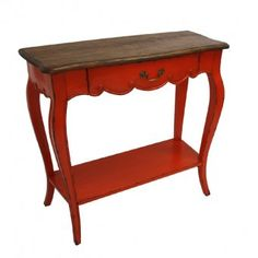 Add a little colour to your entrance hall with this fabulous vibrant orange side table from Chichi Furniture.