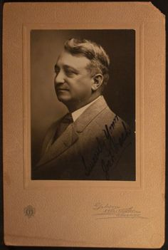 This photo is autographed, and the name is either Joseph F. Tash, or Joseph F. Tosh.  (I found both names online) Photograhed by Gibson Sykes Fowler of Chicago Illinois