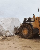Moving a huge piece of marble