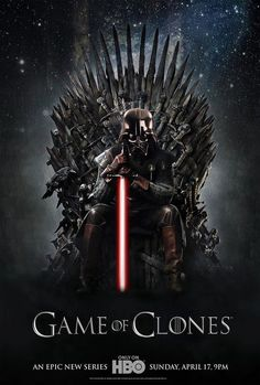 Game of Clones, a new original series on HBO | Star wars, Game of Thrones || Follow here http://pinterest.com/cakespinyoface/geekery-star-wars/ for even more Star Wars Geekery-- original art, tech, gadgets, and more!