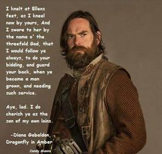 Outlander Murtagh Fitzgibbons, played by Duncan Lacroix Outlander Season 2, Outlander 3, Outlander Casting, Sam Heughan Outlander, Outlander Quotes, Outlander Book Series, Outlander Tv Series, Outlander Characters, Writers