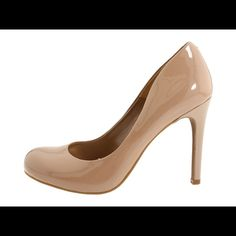 Nude Jessica Simpson Heels Almost new nude patent leather pumps.  I only wore them one time (too small for me) to an indoor wedding.  They have a couple marks but are in otherwise good condition. Jessica Simpson Shoes Heels