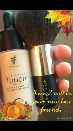 You can't go wrong with these 2 products! FULL coverage foundation that dries to a powder matte and a brush that helps apply! Sounds like girl heaven! ;)