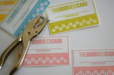 Cute positive reinforcement idea--Good deed cards