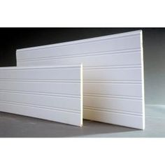 Give your home a sophisticated finish by choosing this Cape Cod MDF Beadboard Planks. Made from MDF and can be used on ceilings. Porch Ceiling, Plank Ceiling, Low Ceiling Basement, Ceiling Fan, White Beadboard, Ceiling Beadboard, Dining Room Wainscoting, Wainscoting Ideas, Covering Popcorn Ceiling