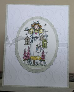 Stampin' Up! stamp and watercolored. Multi-layered mat cut on my Silhouette machine.