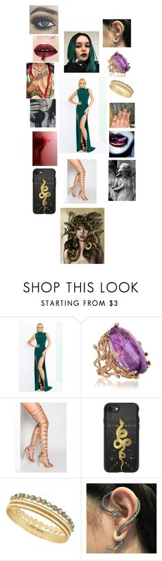 """""""The supernatural (or greek mythology) - Medusa"""" by rosemarieyoung ❤ liked on Polyvore featuring Mac Duggal, Bernard Delettrez, Casetify, Lucky Brand and Cheermo"""