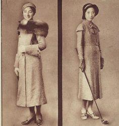 Mitsukoshi 三越 department store Winter fashion advertising - Tokyo, Japan - 1930s