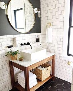✔ 45 farmhouse bathroom decor and ideas 7 – Home Design Inspirations Square Bathroom Sink, Bathroom Grey, Rustic Bathroom Decor, Bathroom Floor Tiles, Bathroom Design Small, Bathroom Colors, Bathroom Vintage, Vintage Vanity, Rustic Decor