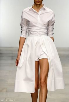Crisp. Elegant. Multifunctional, white dress.