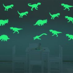 8 pcs Glow In The Dark Toy Luminous Jurassic Dinosaur Model Kids Gift Home Decor